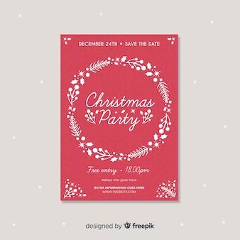 Flache kranz weihnachtsfest poster