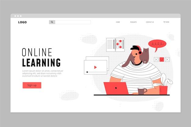 Flache lineare online-bildungsplattform