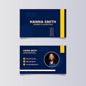 Flache marketing horizontale visitenkarten