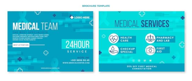 Flache medizinische broschüre