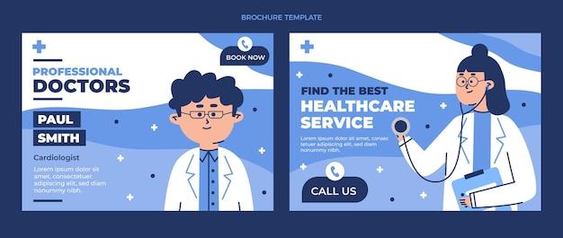 Flache medizinische broschürenvorlage