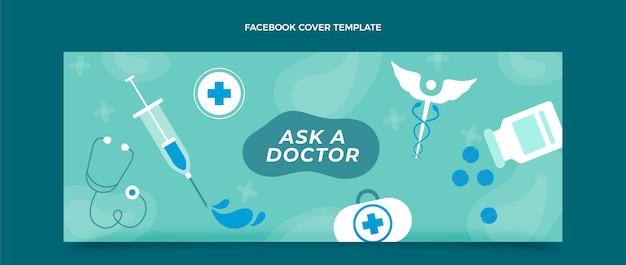 Flache medizinische facebook-cover-design-vorlage