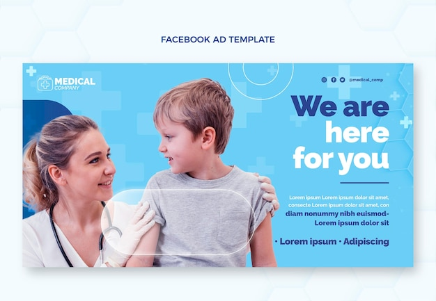Flache medizinische facebook-promo