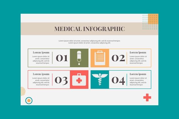 Flache medizinische infografik