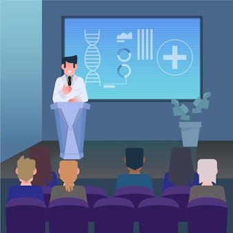 Flache medizinische präsentation