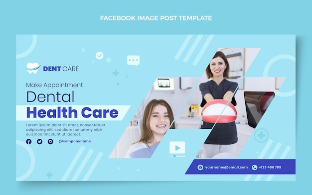 Flache medizinische social-media-beitragsvorlage