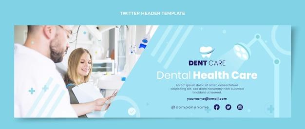 Flache medizinische twitter-header-vorlage Kostenlosen Vektoren