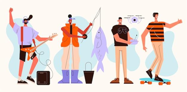 Flache menschen hobbys
