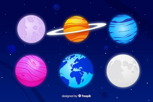 Flache milchstraßenplaneten
