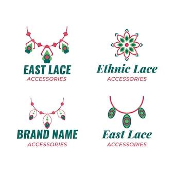 Flache modeaccessoires-logo-vorlagen