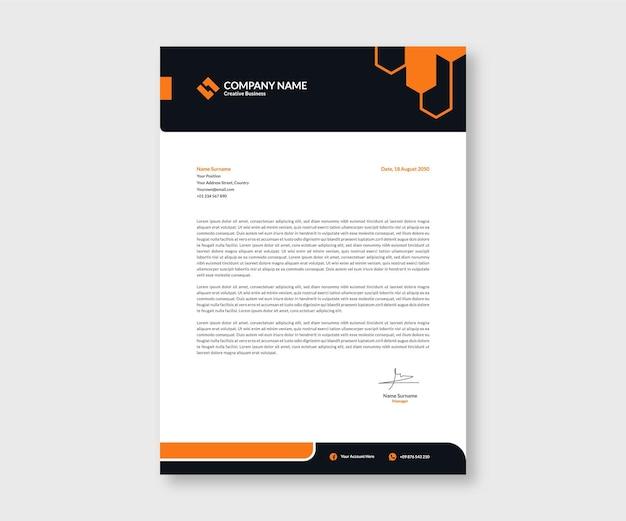 Flache moderne briefkopf-vorlage für briefpapier