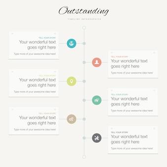 Flache moderne infographik vektor timeline business-konzept