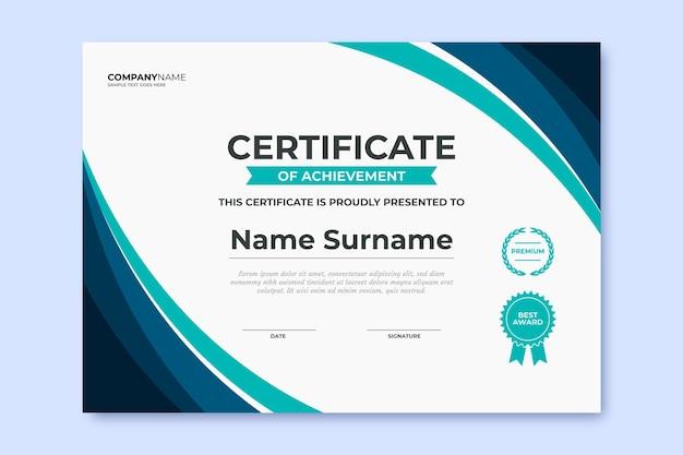 Flache moderne zertifikatsvorlage