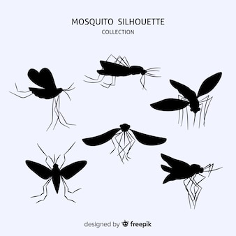 Flache moskitoschattenbildsammlung