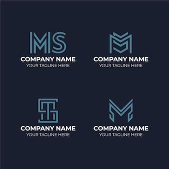 Flache ms logo vorlagen gesetzt