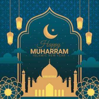 Flache muharram-abbildung