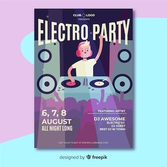 Flache musik festival plakat vorlage