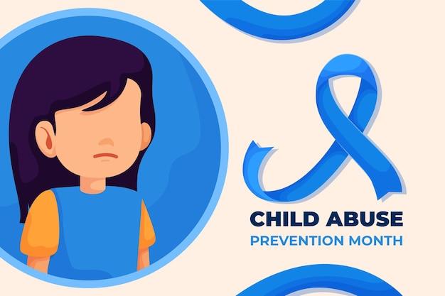 Flache nationale abbildung des monats zur verhinderung von kindesmissbrauch