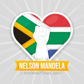 Flache nelson mandela international day illustration