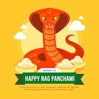 Flache nörgel panchami illustration