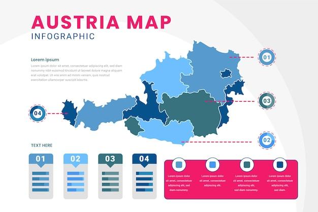 Flache österreichische karte infografik