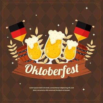 Flache oktoberfestillustration