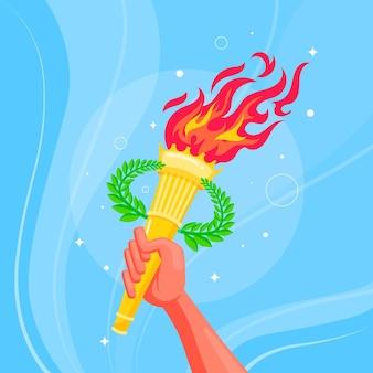 Flache olympische spiele 2021 illustration
