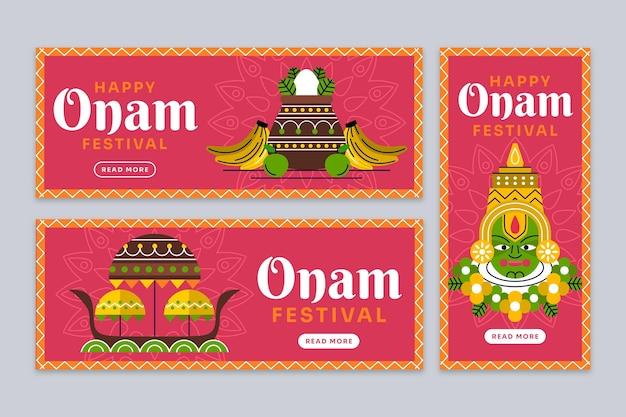 Flache onam-banner-set