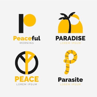 Flache p logo sammlung
