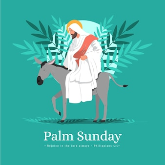 Flache palme sonntag illustration