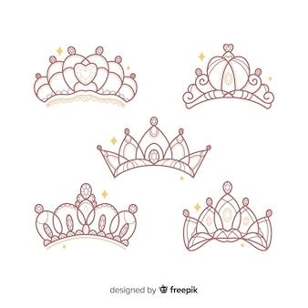 Flache prinzessin tiara-kollektion