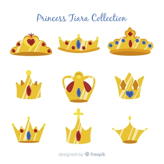 Flache prinzessin tiara pack