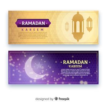 Flache ramadan-banner