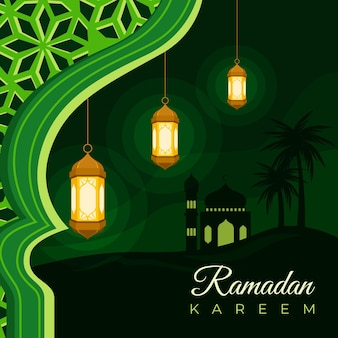 Flache ramadan kareem illustration