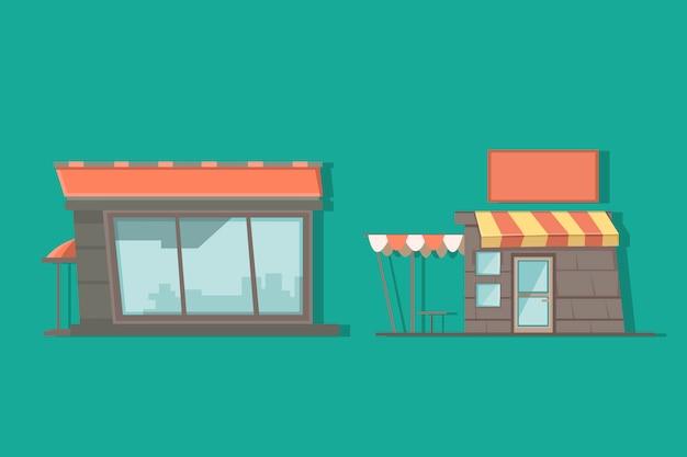 Flache raumillustration für animationshintergrund