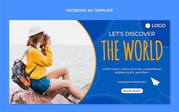 Flache reise-facebook-vorlage