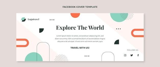 Flache reise-social-media-cover-vorlage