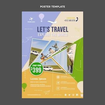 Flache reisedruckvorlage
