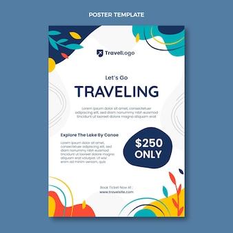 Flache reiseplakatvorlage