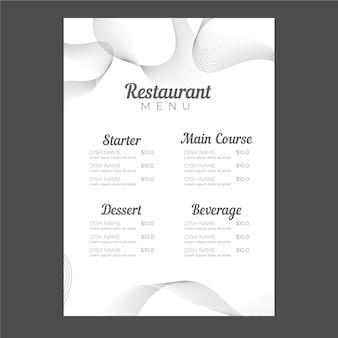 Flache restaurantmenüvorlage Kostenlosen Vektoren