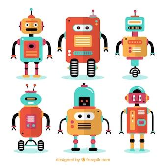 Flache robotersammlung