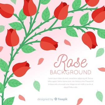 Flache rosen hintergrund