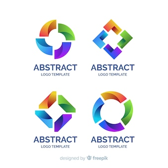 Flache sammlung des abstrakten logos