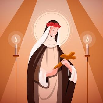 Flache santa rosa de lima-illustration