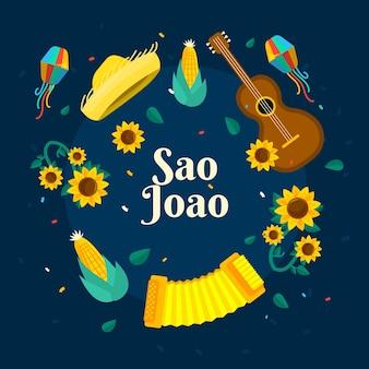 Flache sao joao illustration