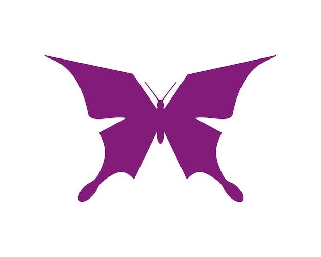 Flache schmetterling-logo