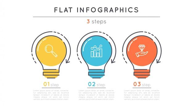 Flache schritte timeline infographik vorlage.