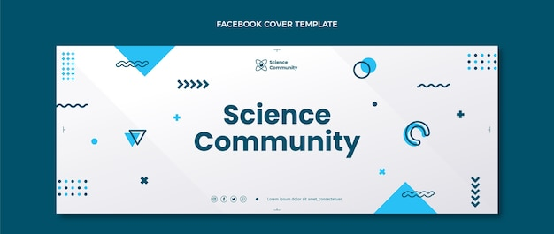 Flache science-facebook-cover-vorlage