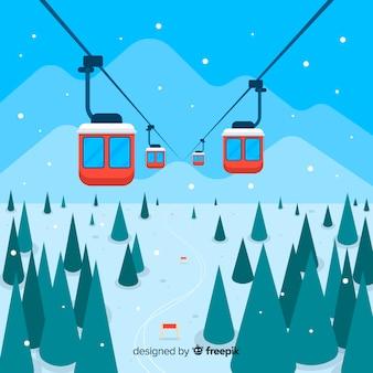 Flache skistation