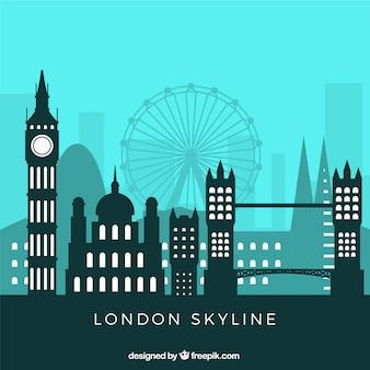 Flache skyline von london